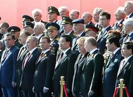 Председатель КНР Ху Цзиньтао присутствовал на военном параде в честь 65-летия Победы в Великой Отечественной войне