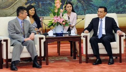 Встреча вице-премьера Госсовета КНР Ли Кэцяна с министром торговли США Гэри Локом1