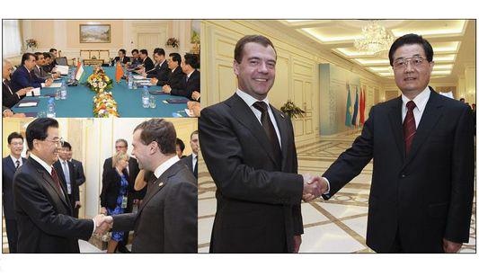 Ху Цзиньтао встретился с президентом РФ Д. Медведевым