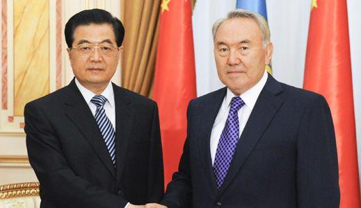 Встреча председателя КНР Ху Цзиньтао с президентом Казахстана Нурсултаном Назарбаевым