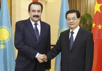 Председатель КНР Ху Цзиньтао провел встречу с премьер-министром Казахстана Каримом Масимовым