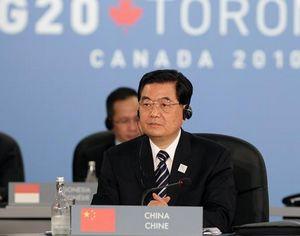 Председатель КНР Ху Цзиньтао принимает участие в 4-м саммите 'Группы 20' в Торонто