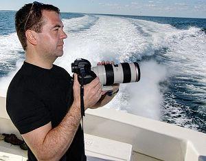 Любитель фотографии – президент России Медведев