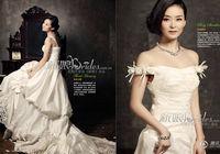 Ван Янь в свадебных снимках