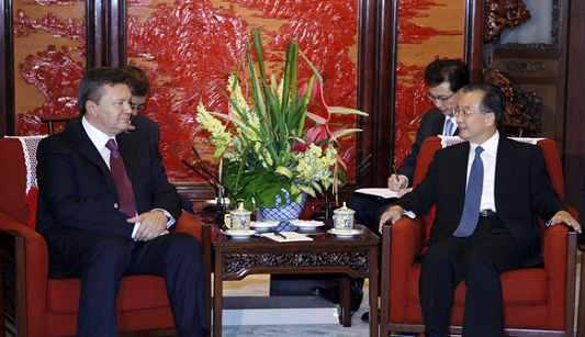 Встреча премьера Госсовета КНР Вэнь Цзябао с президентом Украины