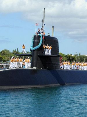 Военные корабли собрались на месте проведения крупнейшего в мире военного учения