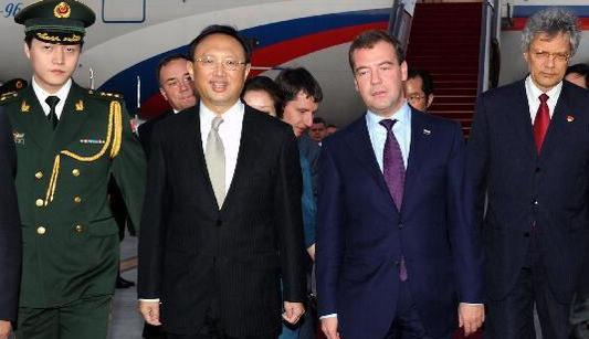 Президент России Д.Медведев прибыл в ПекинЭксклюзив