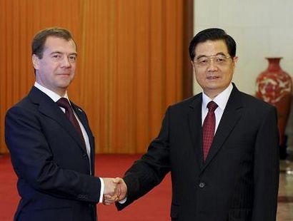 Ху Цзиньтао и Д. Медведев провели переговоры в Пекине