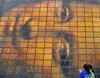 Новаторское творение известной картины «Мона Лиза» в Парке павильонов ЭКСПО-2010 в Шанхае