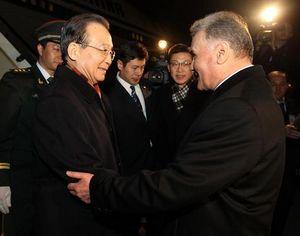 Прибытие Вэнь Цзябао в Душанбе с официальным визитом в Таджикистан