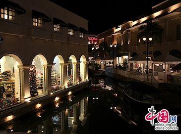 Ночная красота Канкуна Мексики