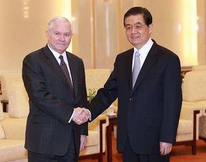 Ху Цзиньтао встретился с министром обороны США