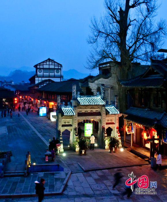 Древний поселок Цзецзы в провинции Сычуань