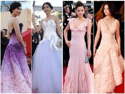 Четыре азиатские красавицы в Каннах