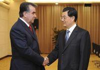 Ху Цзиньтао встретился с президентом Таджикистана Э. Рахмоном