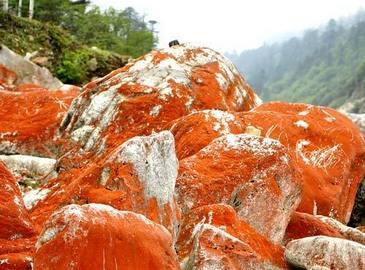 Таинственные красные скалы