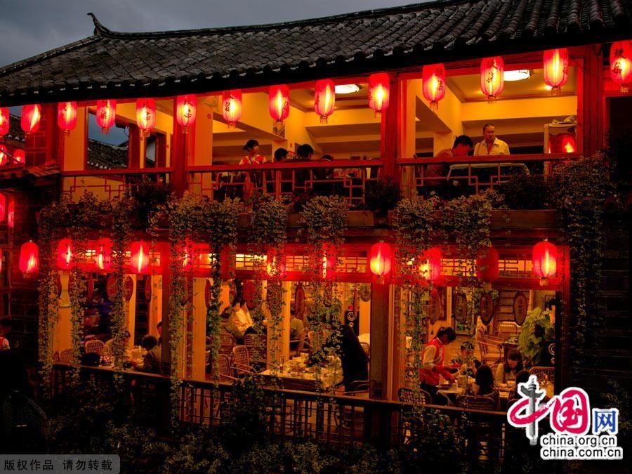 Древний город Лицзян ночью