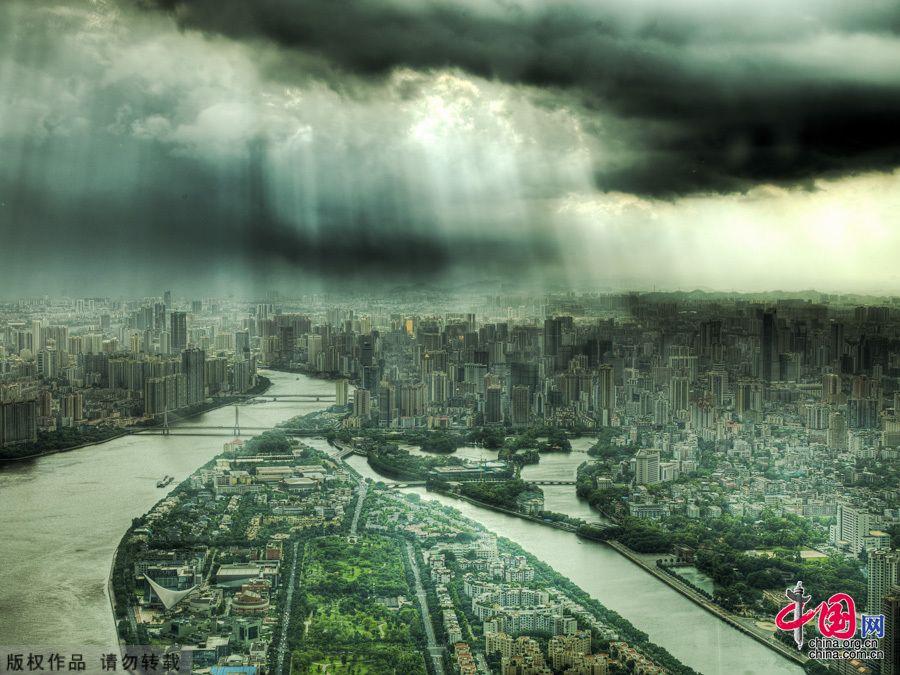 Пейзажи Гуанчжоу с высоты птичьего полета