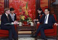 Вице-премьер Госсовета КНР Ли Кэцян встретился с президентом Всемирного Банка