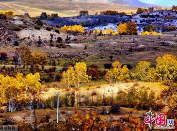Живописная осенняя степь Башан