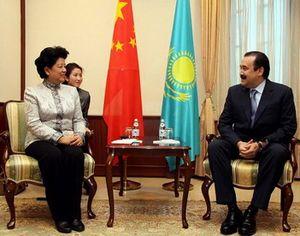 Чэнь Чжили встретилась с премьер-министром Казахстана К. Масимовым