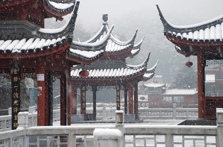 Красивые зимние пейзажи в разных местах мира 4