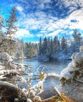 Красивые зимние пейзажи в разных местах мира 6