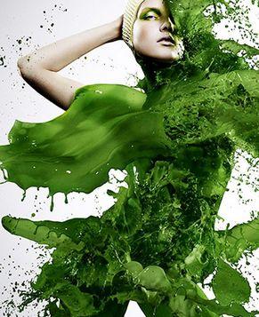 Креативные портреты с помощью цветной жидкости