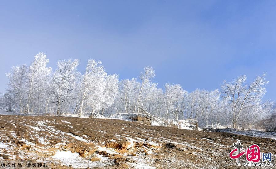 Зимний пик хребта Большой Хинган - Хуанганлян