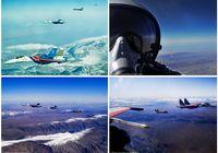 Редкие снимки группового полета истребителей «Су-27» России и «F-14/4 США