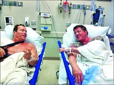 Шварценеггер и Сталлоне попали в больницу, на соседние койки
