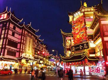 Выставка фонарей в храме Чэнъхуанмяо Шанхая