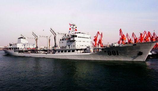 Военная техника и оборудование китайской стороны в китайско-российских совместных военно-морских учениях в Желтом море