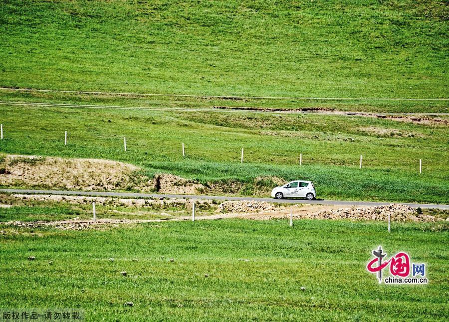 Майская степь Башан во Внутренней Монголии