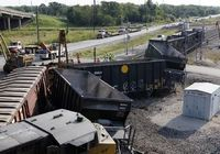 В американском городе Хьюстон произошло столкновение поездов