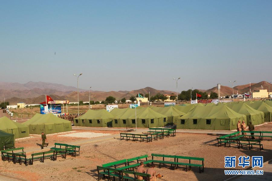 Посещение лагеря войск на военные учения «Мирная миссия – 2012» 1