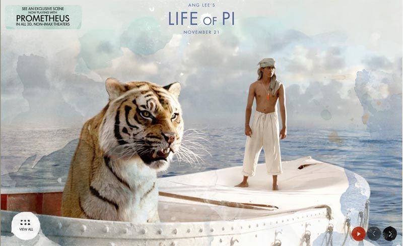 Кадры из нового фильма Ли Аня «Жизнь Пи» (« Life of Pi»)1
