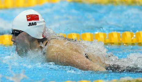 Китаянка Цзяо Люян завоевала золотую медаль в соревнованиях пловцов на дистанции 200 метров баттерфляем на лондонской Олимпиаде