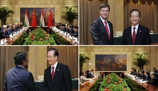 Премьер Госсовета КНР Вэнь Цзябао встретился с политиками из стран Азии и Европы