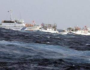 Тайваньские рыболовные судна в акватории островов Дяоюйдао подверглись водяным залпам японских кораблей
