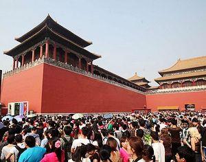 На третий день праздников в Китае продолжается туристический бум