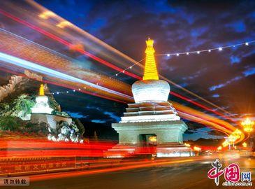 Тибет: Чарующий ночный вид дворца Потала