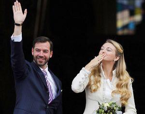 Наследный принц Люксембурга женился на бельгийской графине Стефани де Ланнуа