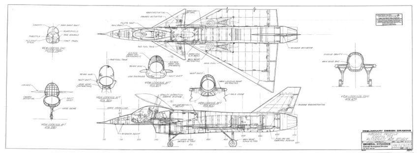Схемы дизайна ранних бомбардировщиков Корпорации Lockheed Martin ...
