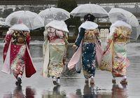 Японский обряд посвящения под снегом