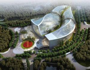 Ботанический павильон Всемирной выставки садоводства «ЭКСПО-Циндао» был покрыт крышей, в сентябре 2013 году весь объект будет завершен