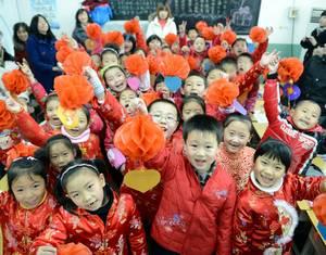 Дети новых горожан коллективно празднуют день рождения