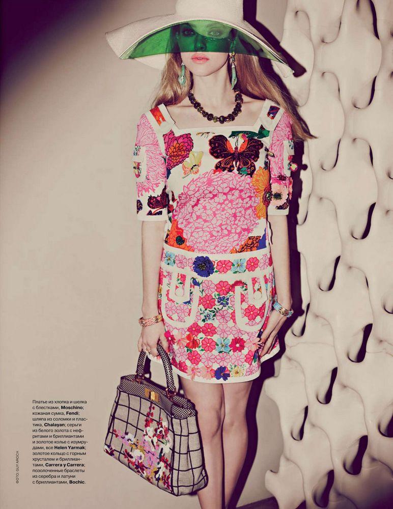 9d2616a839ba Кинозвезда Аманда Сейфрид попала на обложку модного журнала российской  версии