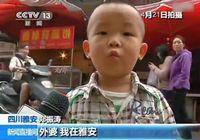 Маленький мальчик из города Яань привлек к себе всеобщее внимание в телеинтервью