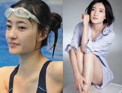 Китайские, японские и южнокорейские звезды до и после макияжа